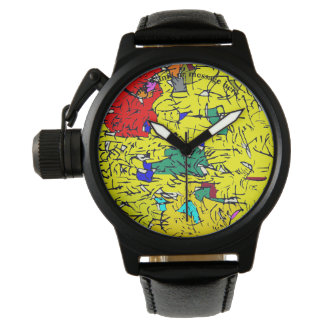 Detail abstract wristwatch