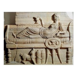 Detail from a sarcophagus postcard