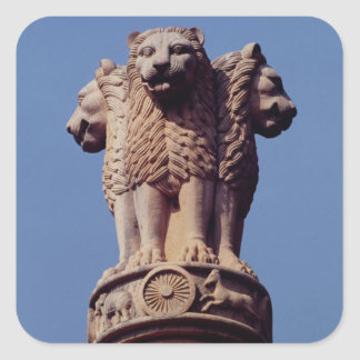 Detail from an Ashoka Pillar Square Sticker