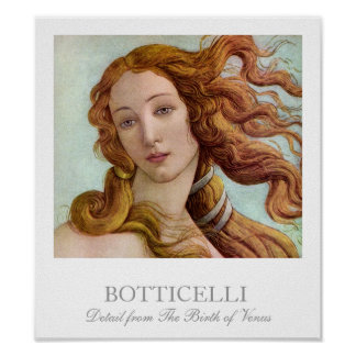 Detail from The Birth of Venus by Botticelli Poster