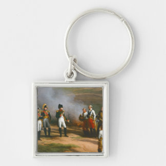 Detail from The Surrender of Ulm Silver-Colored Square Keychain