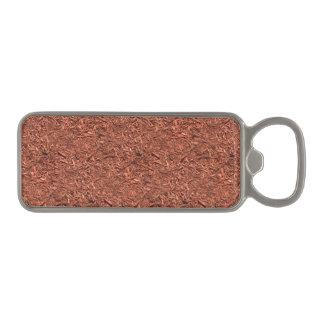 detail image of red cedar mulch for gardener magnetic bottle opener