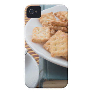 Detail of a cup of tea and a plate of crackers Case-Mate iPhone 4 case