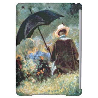 Detail of a Gentleman reading in a garden iPad Air Case