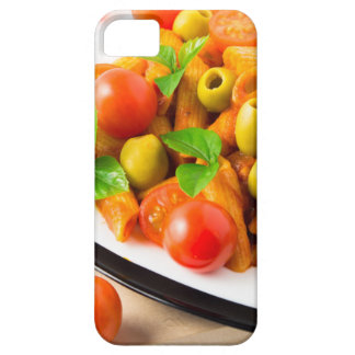 Detail of a plate closeup Italian pasta penne iPhone 5 Cases