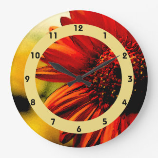 Detail of a Red Flower Clocks