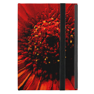 Detail of a Red Flower Covers For iPad Mini