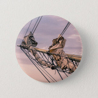 Detail of a sailing ship 2 inch round button