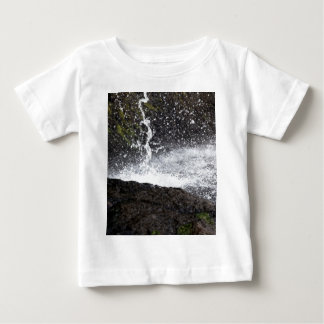 Detail of a small waterfall baby T-Shirt