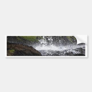Detail of a small waterfall bumper sticker