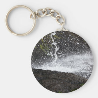 Detail of a small waterfall keychain