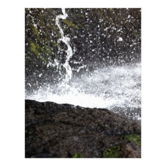 Detail of a small waterfall letterhead