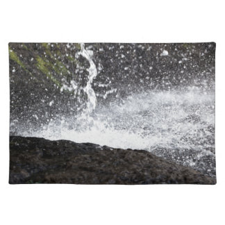 Detail of a small waterfall placemat