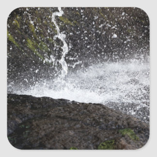 Detail of a small waterfall square sticker