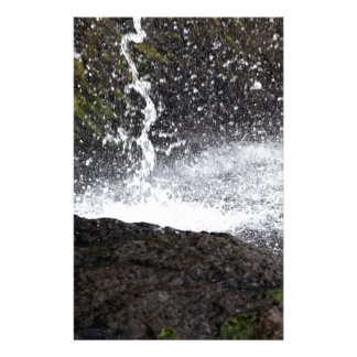 Detail of a small waterfall stationery