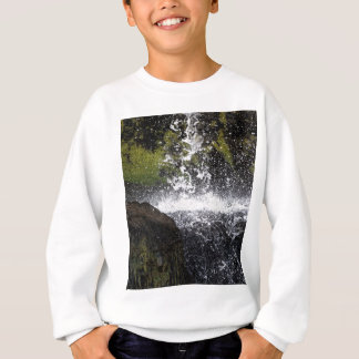 Detail of a small waterfall sweatshirt