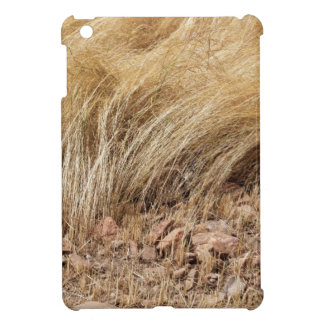Detail of a teff field during harvest iPad mini cover