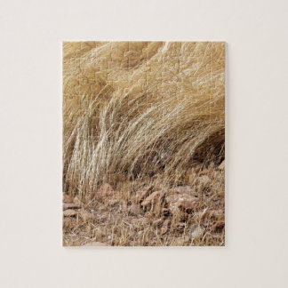 Detail of a teff field during harvest jigsaw puzzle