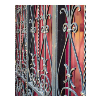 Detail of an old iron fence customized letterhead