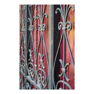 Detail of an old iron fence stationery