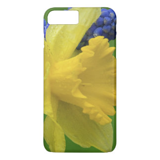 Detail of daffodil and hyacinth flowers. Credit iPhone 7 Plus Case