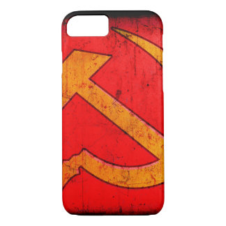 Detail of distressed Hamme & Sickle design iPhone 7 Case