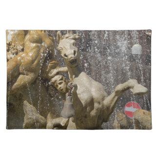 Detail of Fontana d'Artemide, Ortigia Placemat