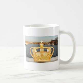 Detail of golden crown bridge in Stockholm, Sweden Coffee Mug