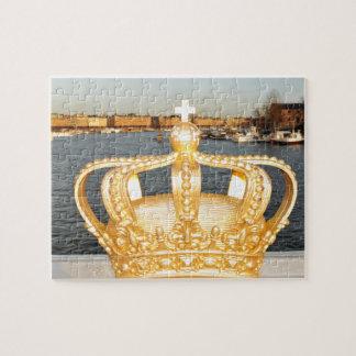 Detail of golden crown bridge in Stockholm, Sweden Jigsaw Puzzle