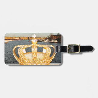 Detail of golden crown bridge in Stockholm, Sweden Luggage Tag