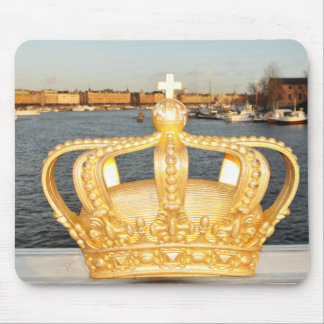 Detail of golden crown bridge in Stockholm, Sweden Mouse Pad