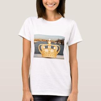 Detail of golden crown bridge in Stockholm, Sweden T-Shirt