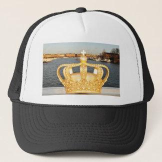 Detail of golden crown bridge in Stockholm, Sweden Trucker Hat