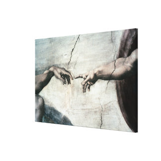 Detail of Hands from <Creation of Adam> by Michela Canvas Print