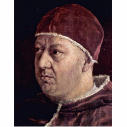 Detail Of Portrait Of Pope Leo X With His Cousins Acrylic Cut Outs