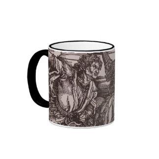 Detail of the Four Horsemen of the Apocalypse Ringer Mug