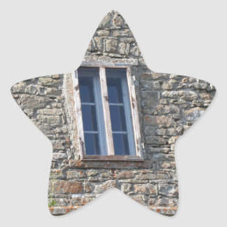 Detail of the medieval sanctuary facade star sticker