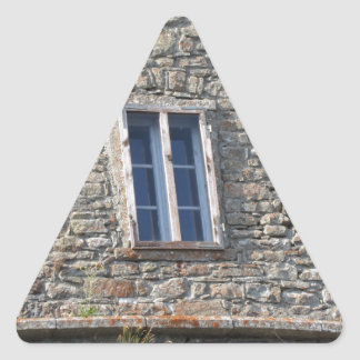 Detail of the medieval sanctuary facade triangle sticker