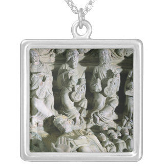 Detail of the Portico 2 Silver Plated Necklace