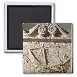 Detail of the Ship Sarcophagus, from Sidon Square Magnet