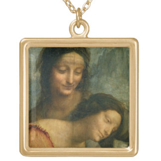 Detail of the Virgin and St. Anne from The Virgin Gold Plated Necklace