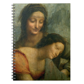 Detail of the Virgin and St. Anne from The Virgin Spiral Notebook