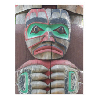 Detail of Totem Pole Postcard