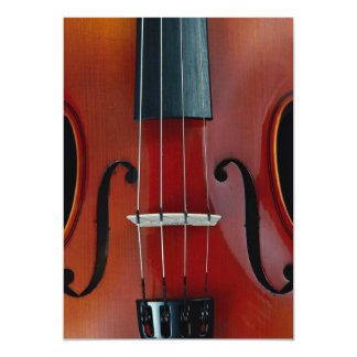 Detail of violin and strings card