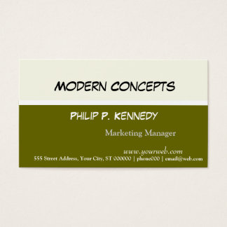 Detail Oriented Simple Modern Business Card