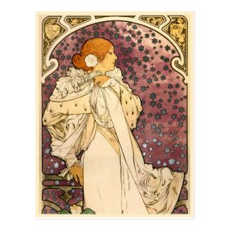 Detail The Lady of the Camellias Art Nouveau Postcard