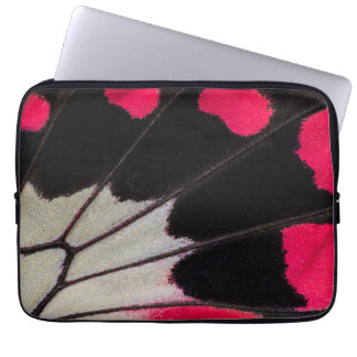 Detail Wing Pattern of Tropical Butterfly Laptop Sleeve