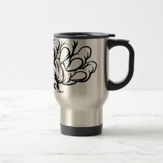 Detailed Bull Silhouettes Travel Mug