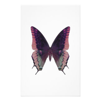 Detailed Butterfly Pink Stationery