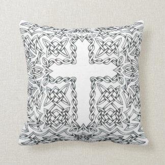 Detailed Celtic Cross Pattern Pillow Case